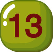 170x168 Clipart Of Number, Icon, Logo, Thirteen, Sign, 13 U17949932