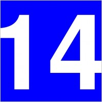 200x200 Number 14 Clipart