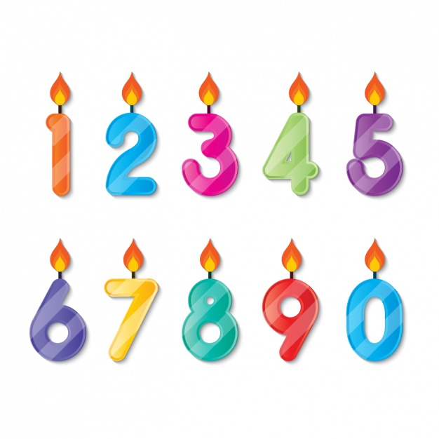 626x626 Number Shaped Birthday Candlesv Vector Free Download
