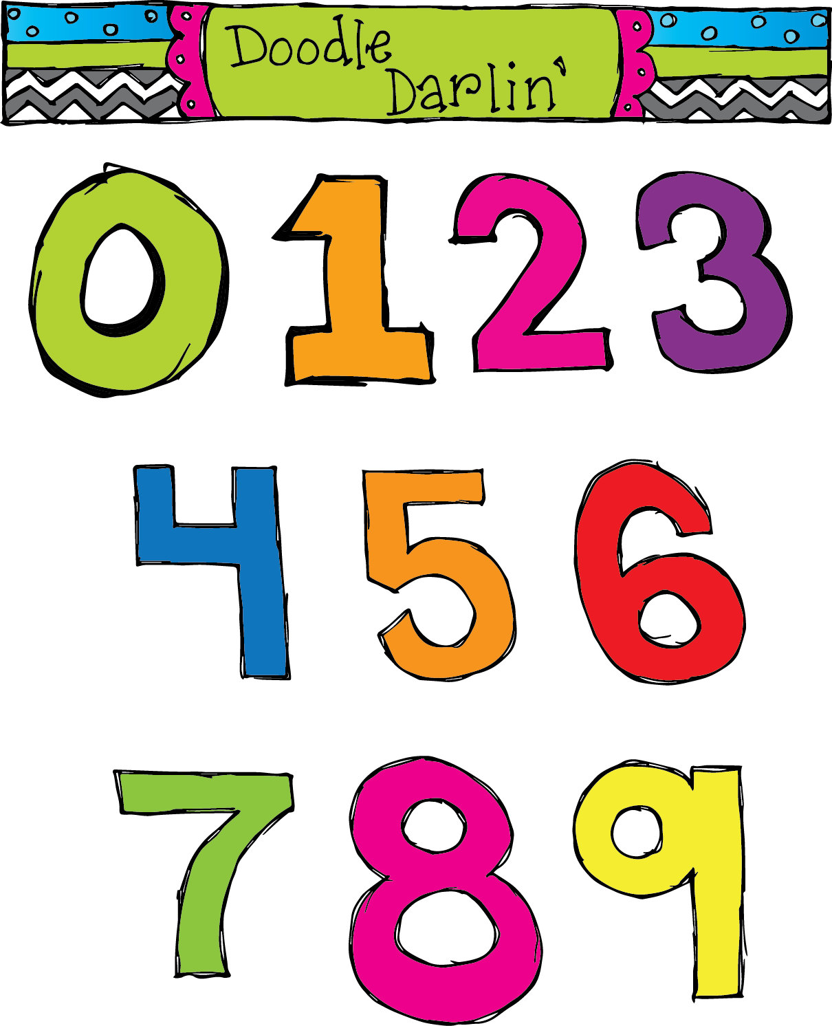 1210x1492 Numbers Clipart