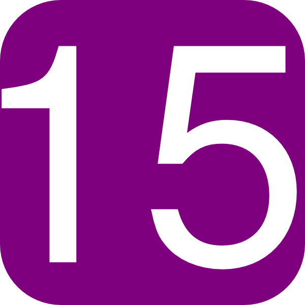 600x600 Purple Number 1 Clipart