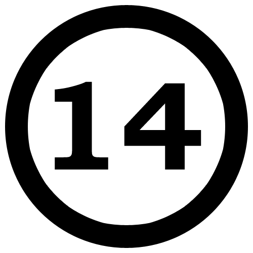 500x500 Clip Art Number 14 Clipart