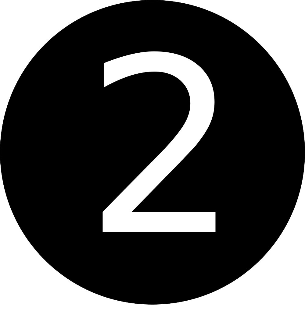 number 2 clipart black and white free download best