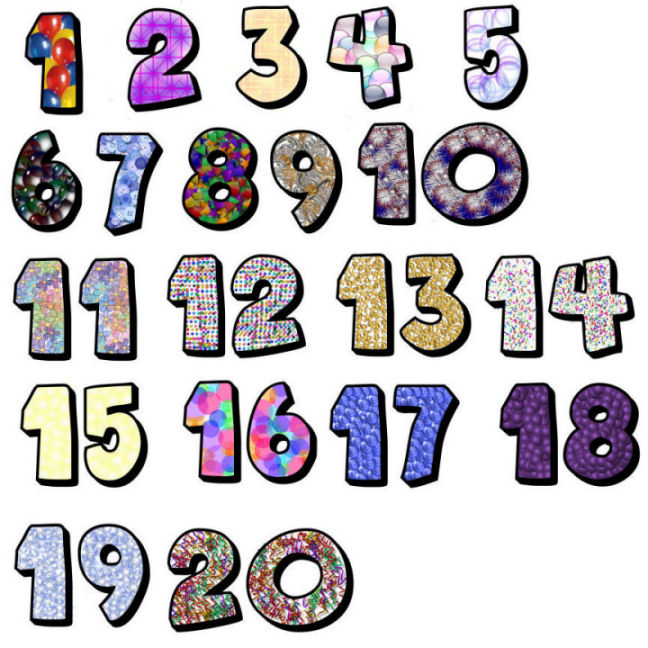 648x648 Clip Art Of Numbers From 1 To 20 Clipart