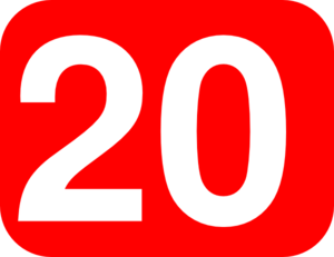 300x231 Number 20 Red Background Clip Art