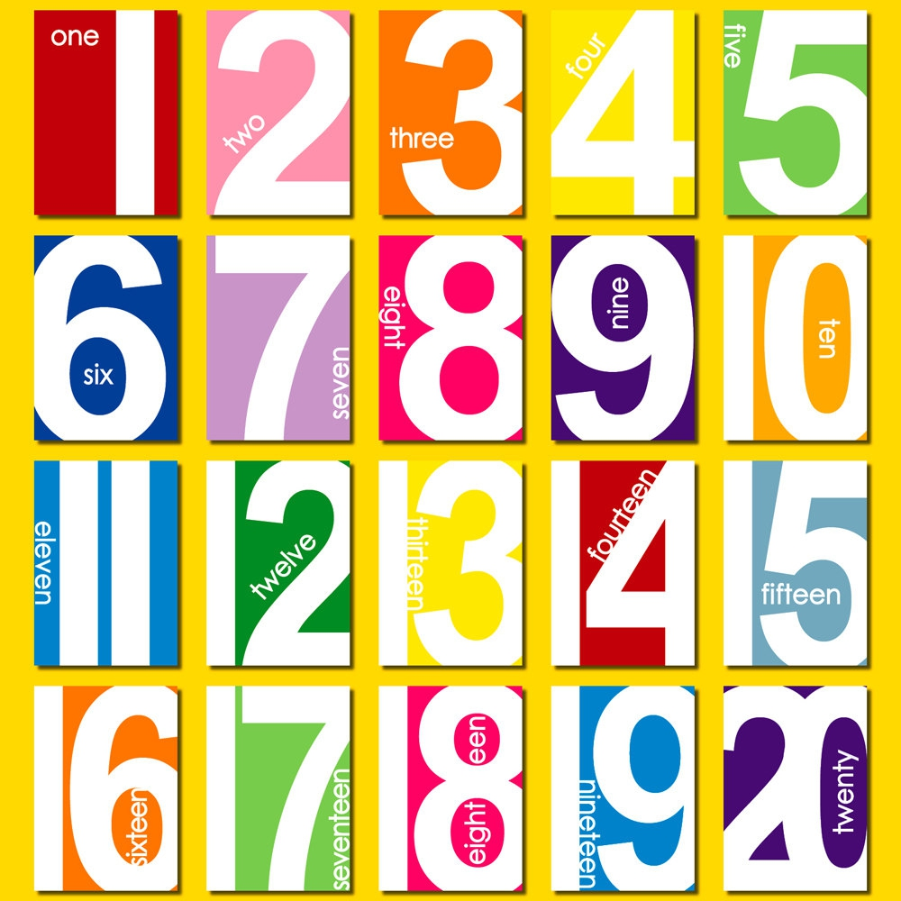 1000x1000 Clipart Numbers 1 20