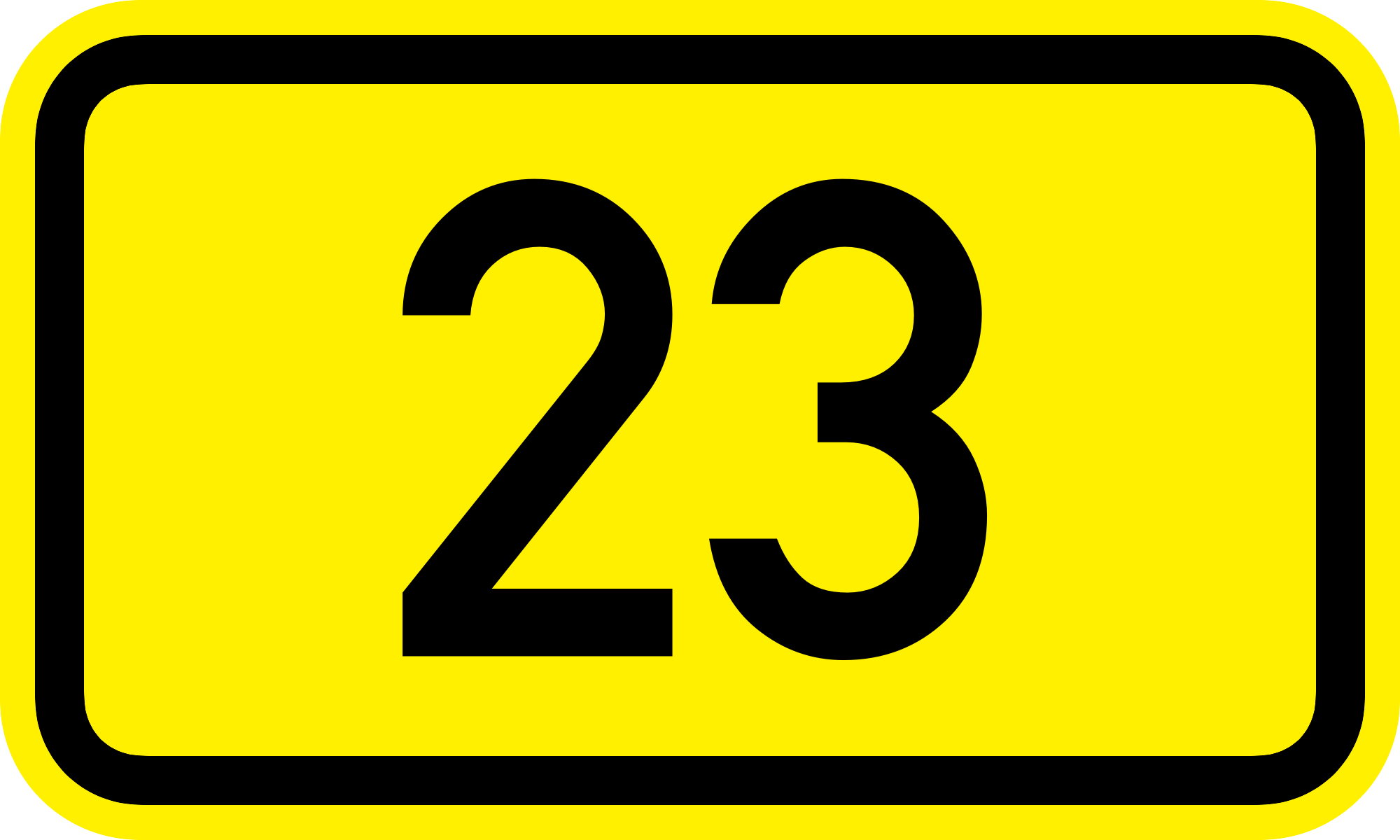 Number 23 Clipart