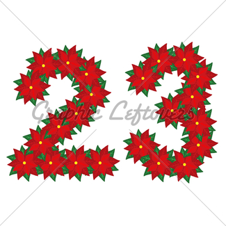 325x325 Poinsettia Number Series 0, 1 Gl Stock Images