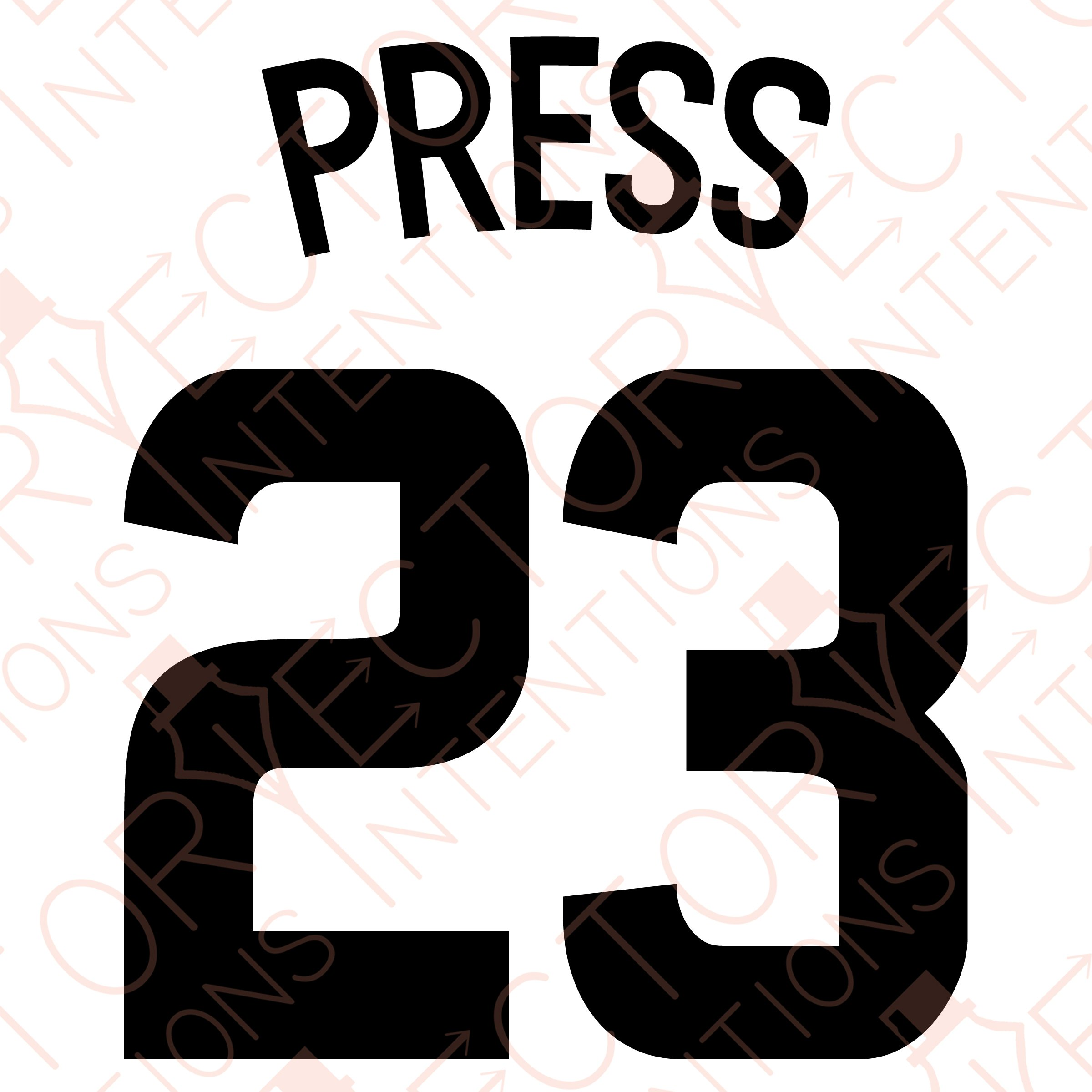 2400x2400 Christen Press 23 Jersey Number Vector Intentions Tictail