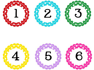 320x240 Clip Art Numbers 1 100