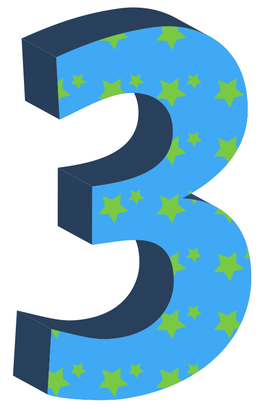 517x800 Image Of 3 Clipart