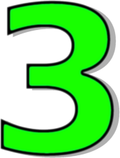 172x227 Number 3 Clipart