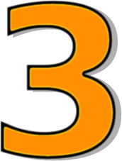 172x227 Number 3 Orange Clip Art Download
