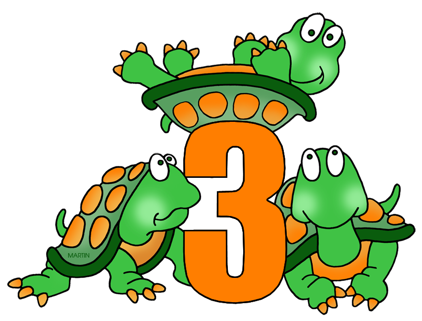 852x648 Numbers Clip Art By Phillip Martin, Number 3