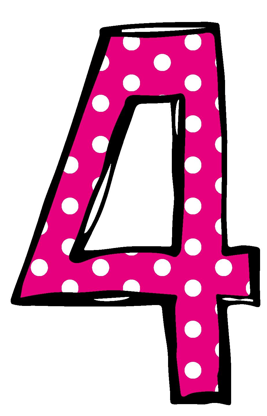 923x1436 Polka Dot Number 3 Clipart