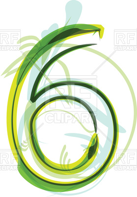 279x400 Green Number 6 Royalty Free Vector Clip Art Image