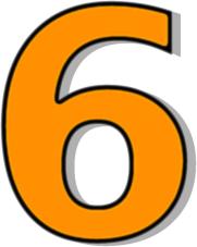 181x227 Number 6 Orange Clip Art Download