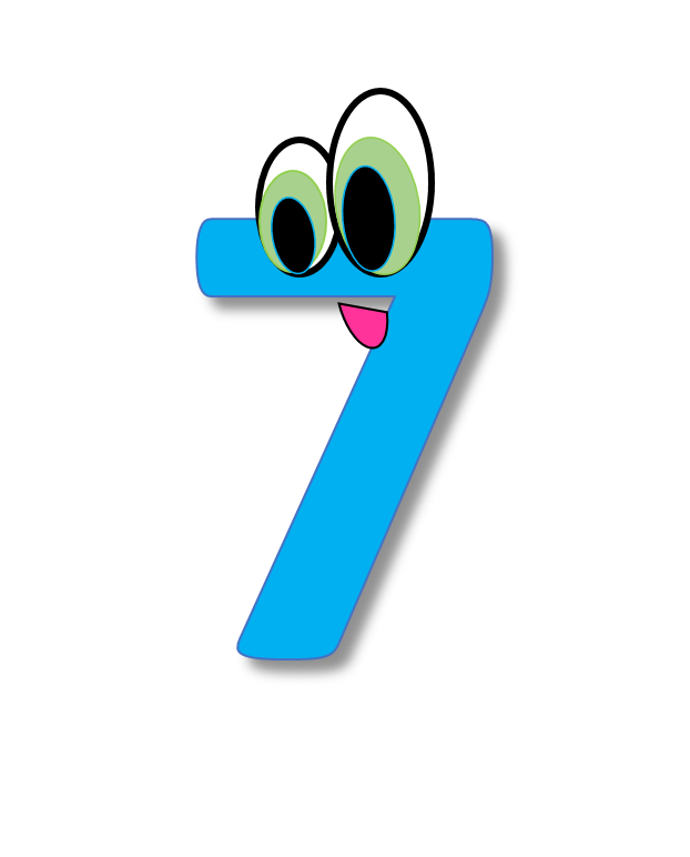 622x772 Number 7 Clipart