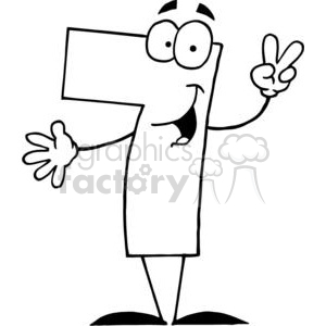 300x300 Royalty Free Happy Number 7 Holding Up Seven Fingers 378050 Vector