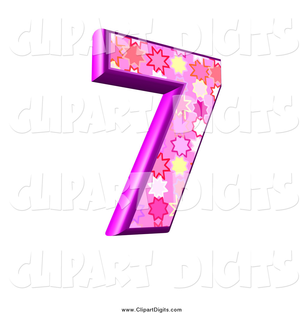 1024x1044 Clip Art Of A 3d Pink Burst Number 7 By Chrisroll