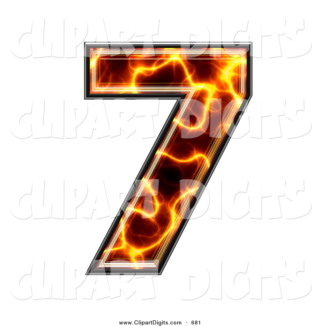 1024x1044 Clip Art Of A Magma Symbol Number 7 On White By Chrisroll