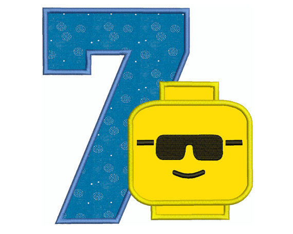 570x456 Lego Clipart Number 7