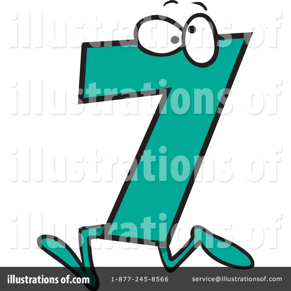 1024x1024 Number 7 Clipart