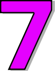 178x227 Number 7 Clipart