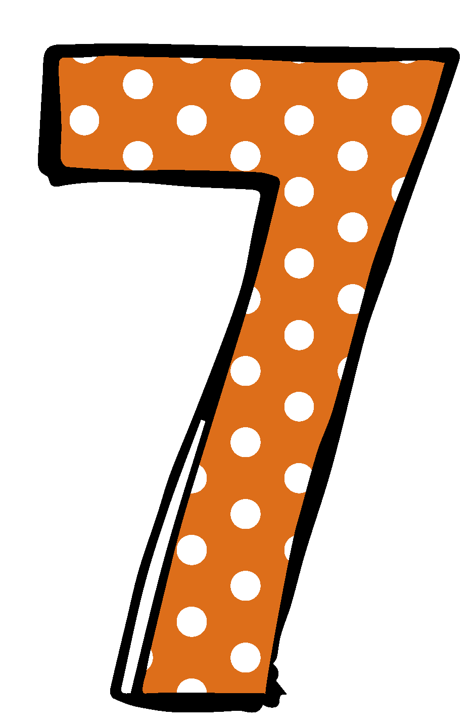 Number 7 Cliparts