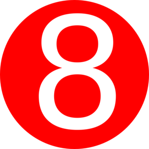 300x300 Red, Rounded,with Number 7 Clip Art