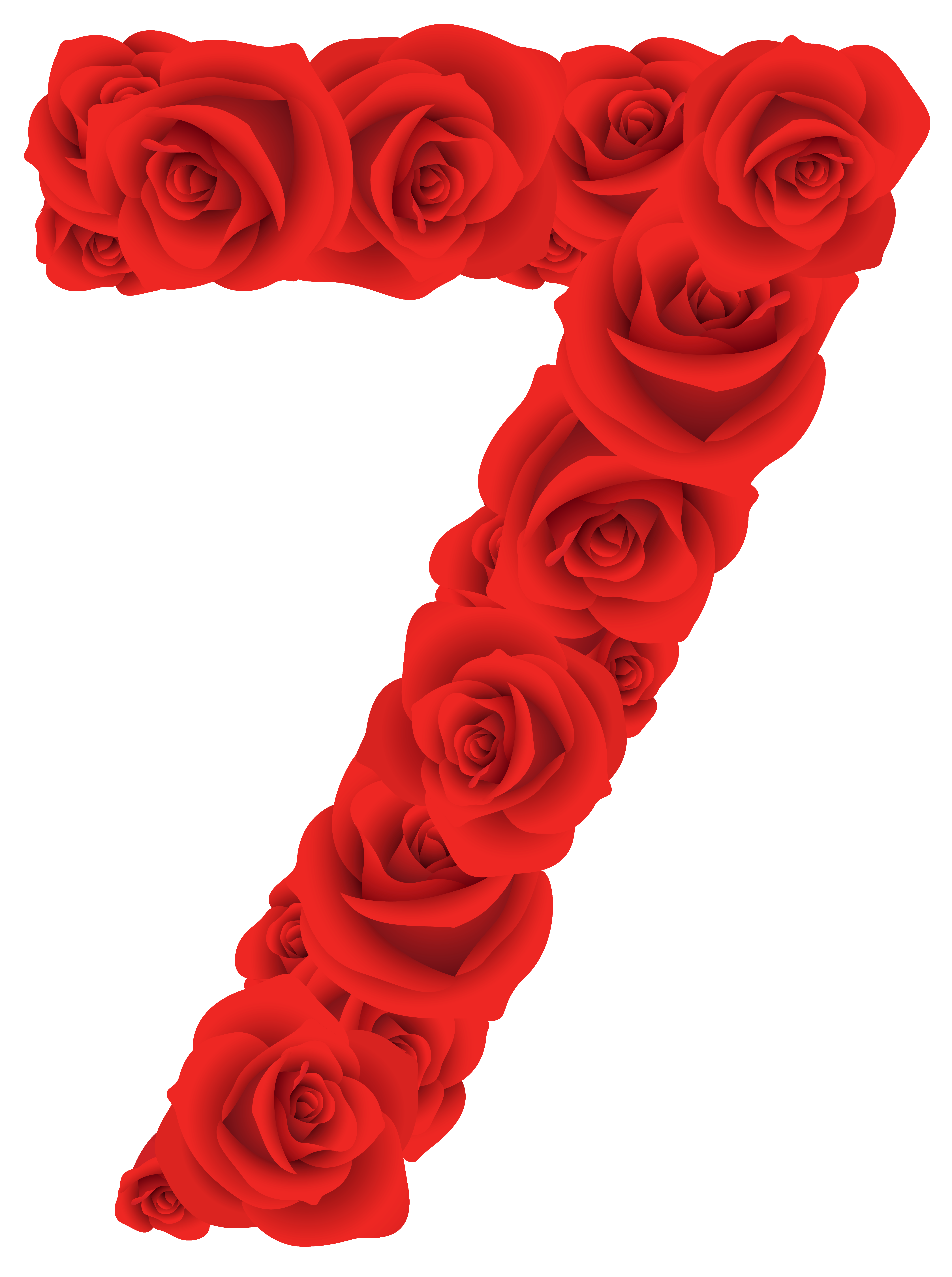 5267x7064 Red Roses Number Seven Png Clipart Imageu200b Gallery Yopriceville