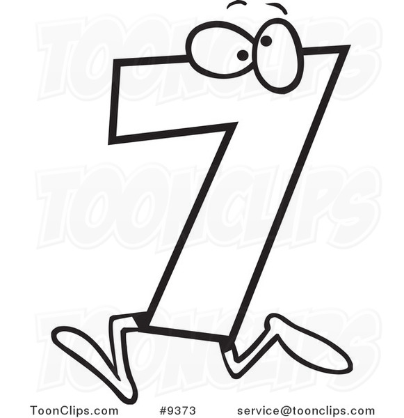 581x600 Number 7 Clipart Black And White Cliparts