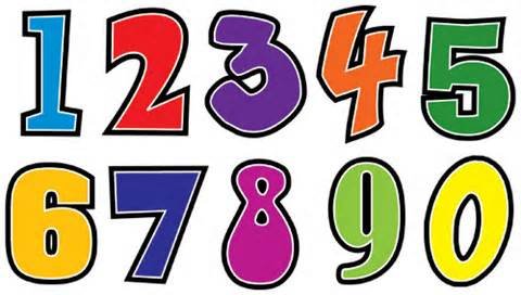 480x272 Clipart of numbers with flames