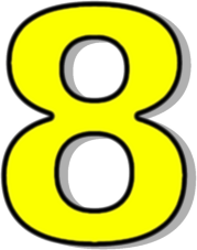 179x227 Number 8 Clipart