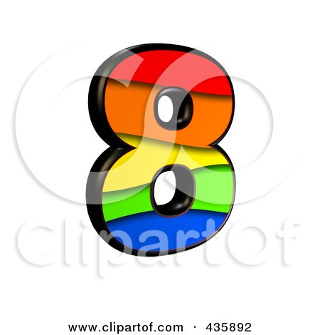 450x470 Rainbow clipart number 8