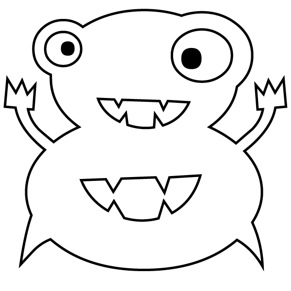 600x600 Number 8 Coloring Page