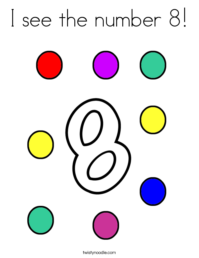 685x886 Number 8 Coloring Pages