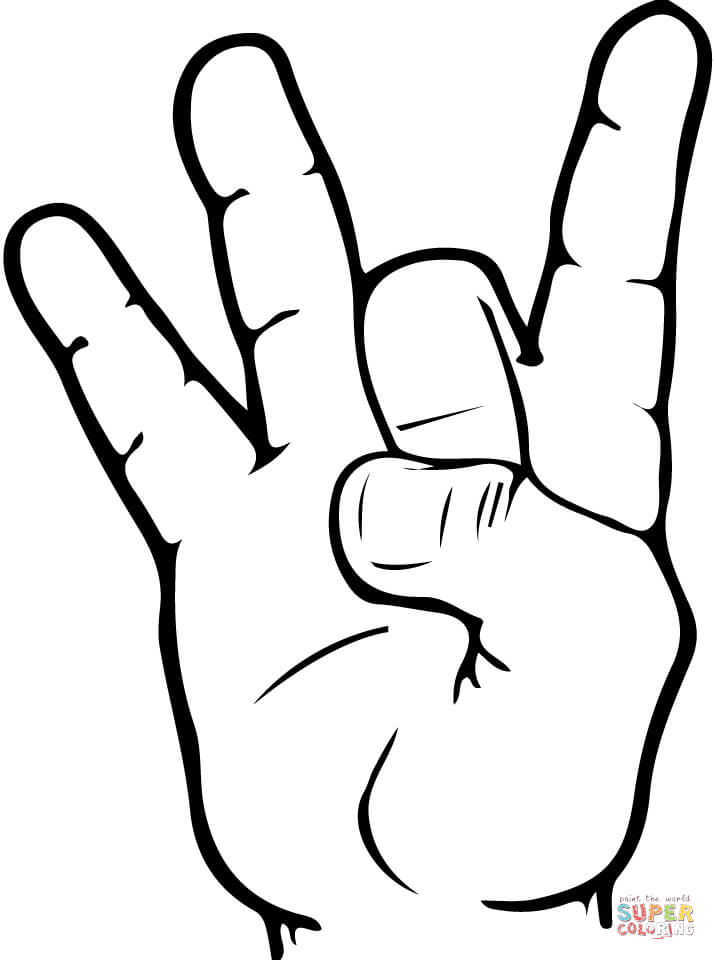 716x960 ASL Number 8 coloring page Free Printable Coloring Pages