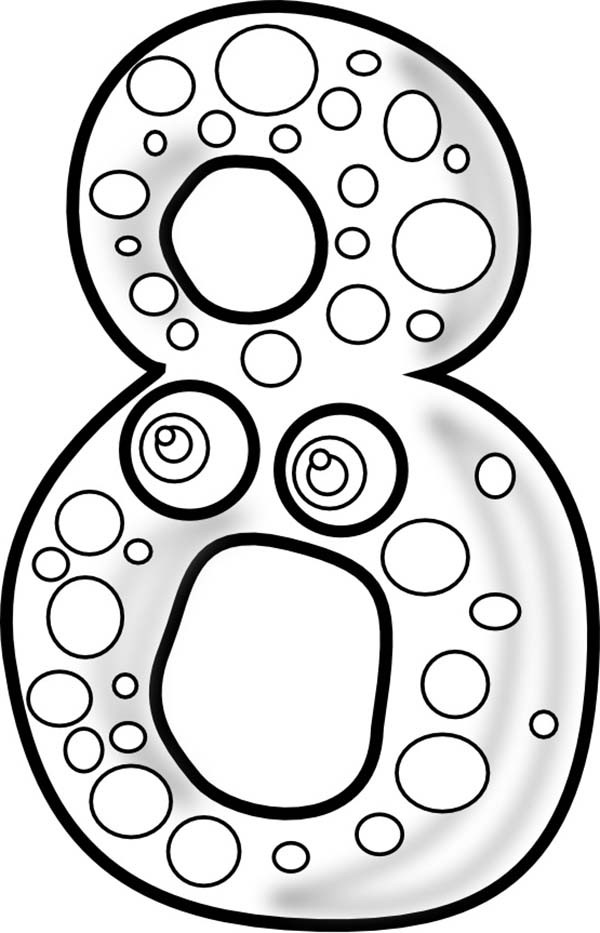 600x933 Big Number 8 Coloring Page Bulk Color