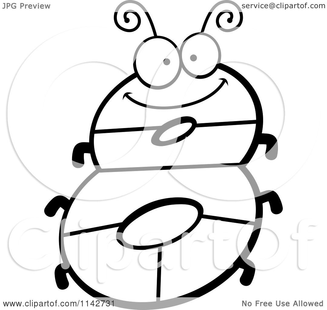 1080x1024 Cartoon Clipart Of A Black And White Bug Number 8