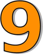 Number 9 Clip Art at Clker.com - vector clip art online, royalty ...