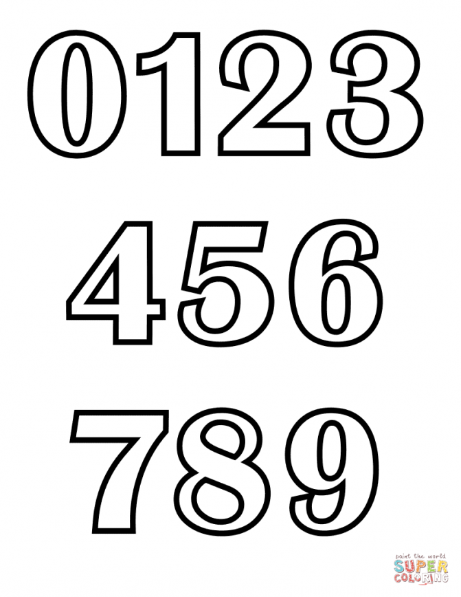 671x868 Coloring Pages Coloring Page Numbers Mrprintables Number Pages 9