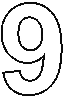 Number 9 Coloring Pages | Free download best Number 9 ...