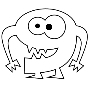 300x300 Number 9 Coloring Page