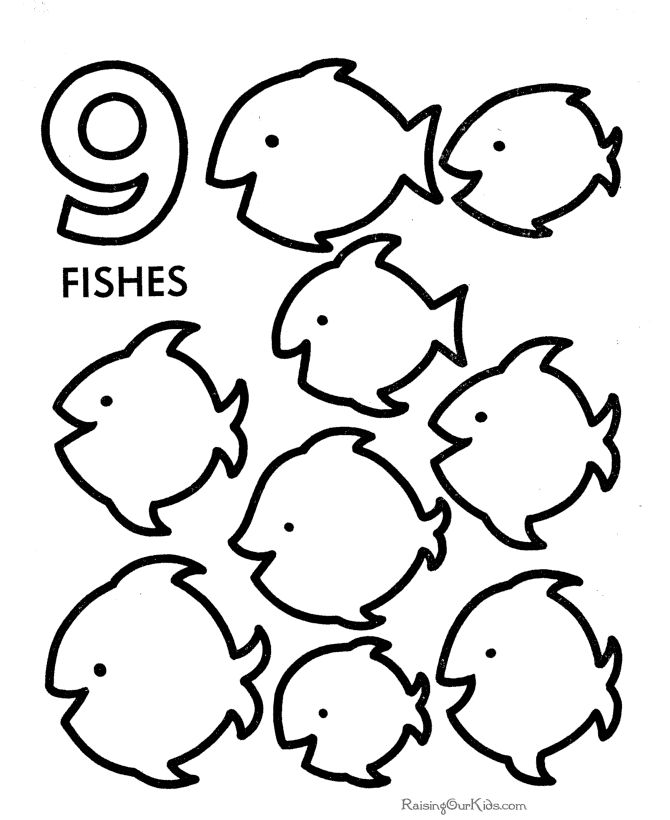 Number 9 Coloring Pages | Free download best Number 9 Coloring Pages ...