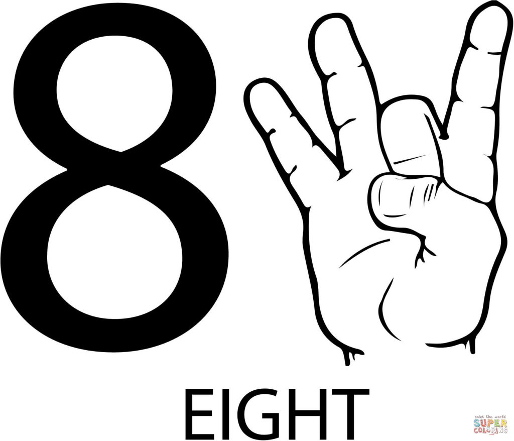 1024x878 Asl Number Eight Free Download