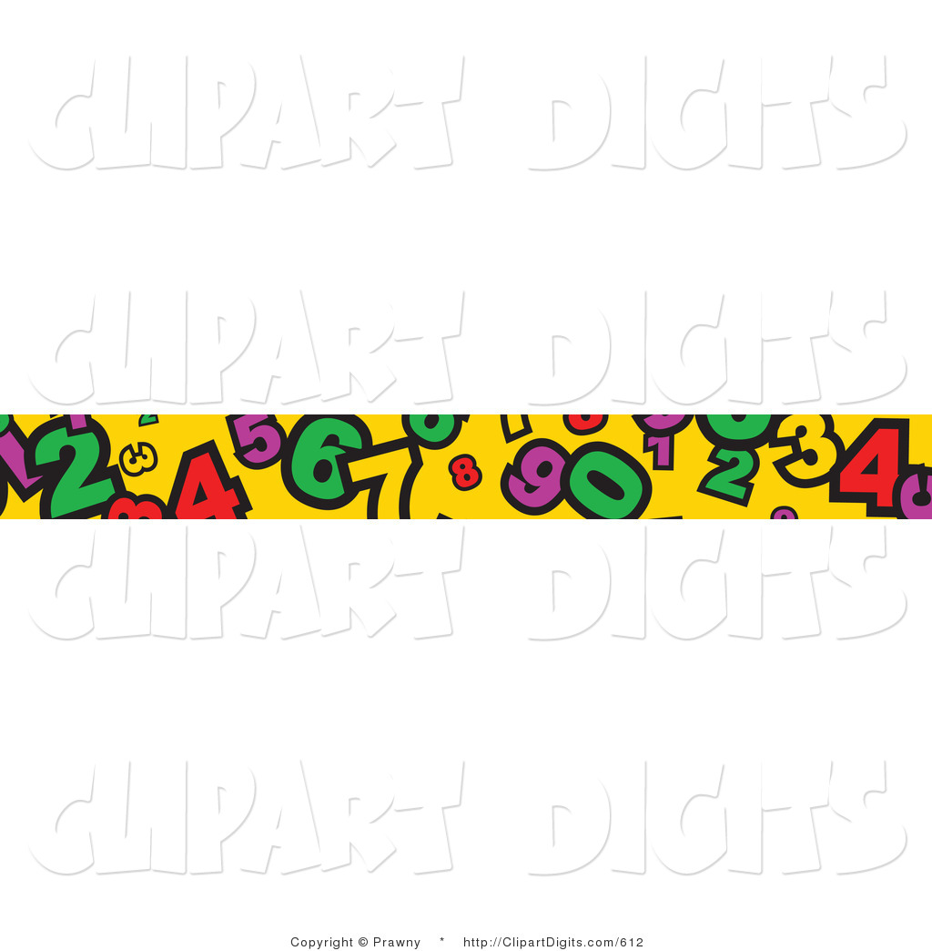 1024x1044 Vector Clip Art Of A Banner Border Of Numbers On Yellow By Prawny