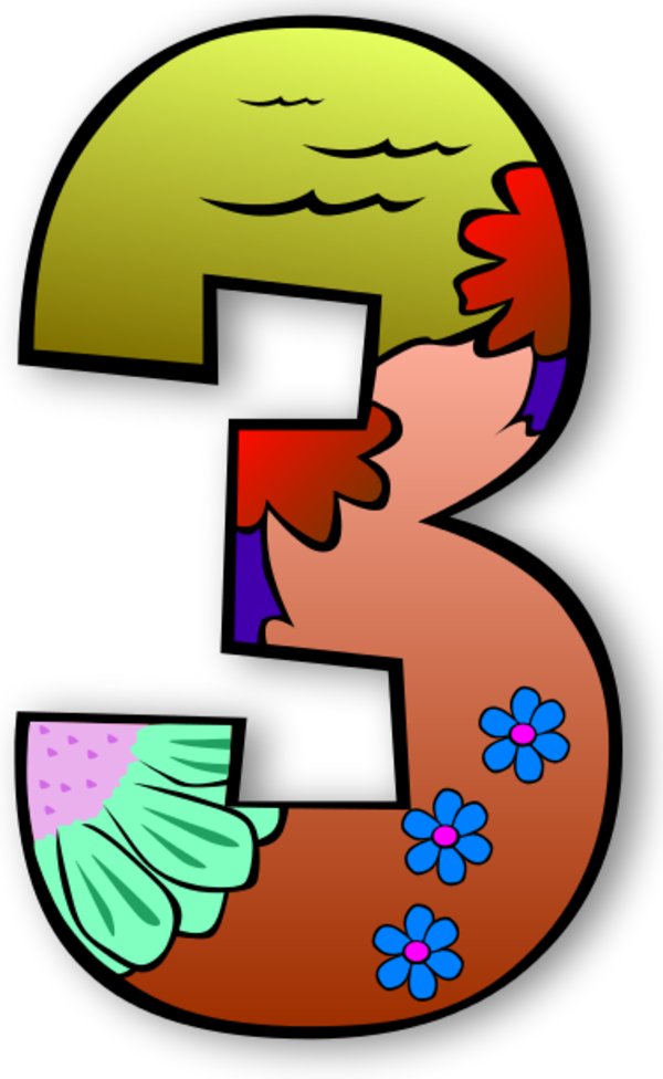 600x976 Clip Art Numbers 33 Clipart