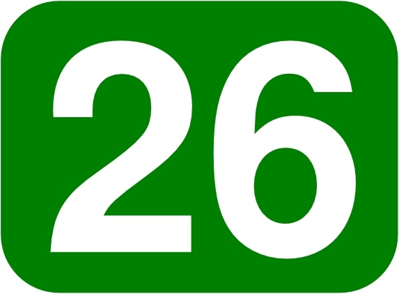573x422 Green Rounded Rectangle With Number 26 Clip Art Free Vector