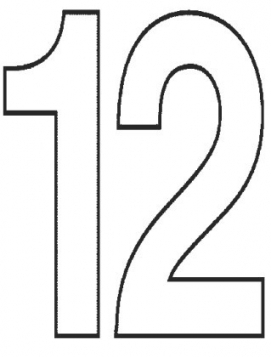 271x357 Number 12 Clipart Free Download Clip Art Free Clip Art